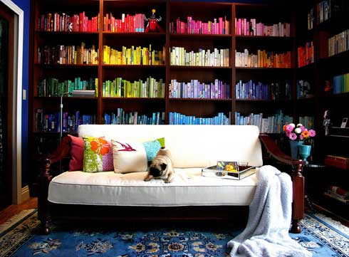 Color-bookshelf