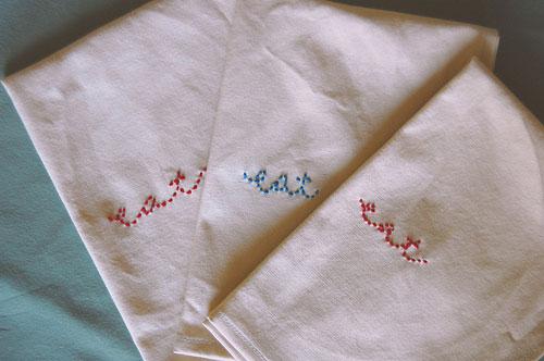 Embroiderednapkins