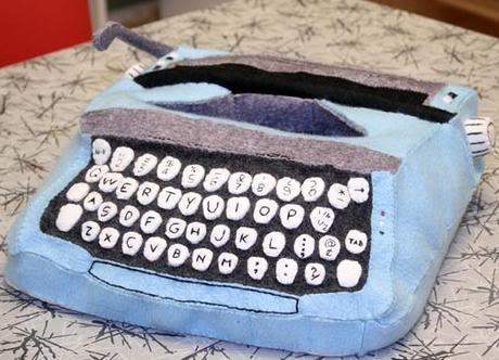 felt typewriter