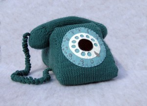 knitted rotary phone