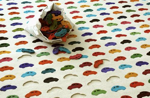 Car-puzzle-rug