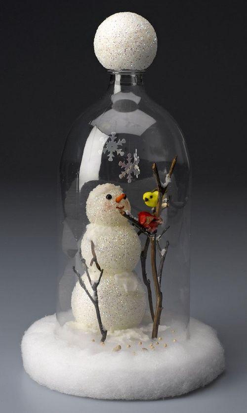 Snowman-cloche