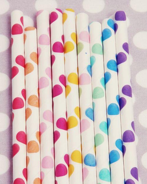 Polka-dot-straws