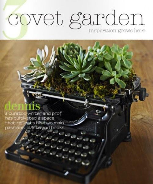 Planter-typewriter