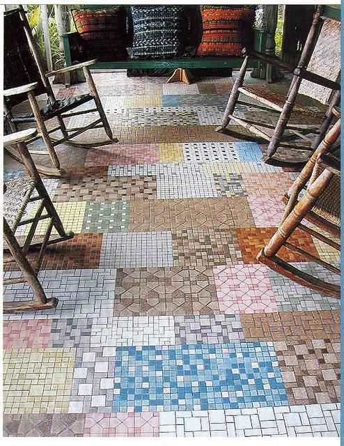 Patchwork-tile-floor