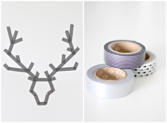 Washi-tape-Antlers