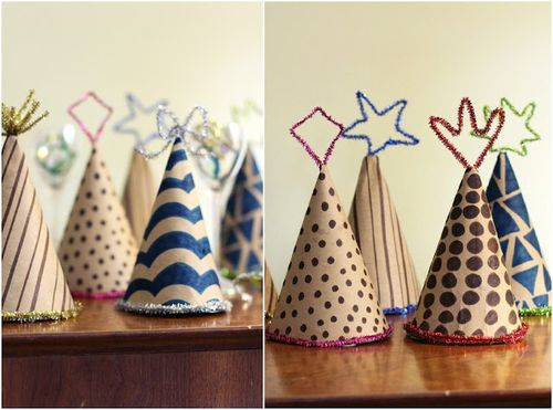 Chenille-stem-party-hats
