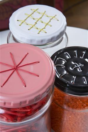 Embroidered-jar-lid
