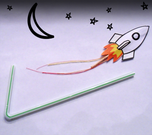 Straw-rocket-craft