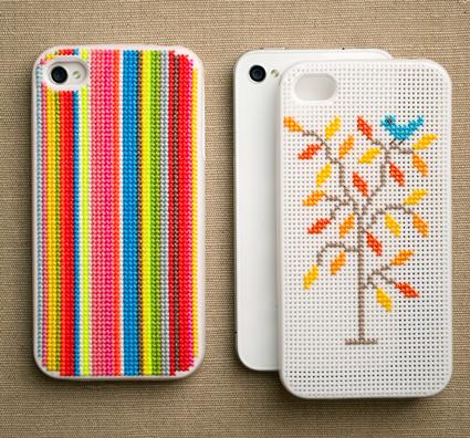 Cross-stitch-iphone-case