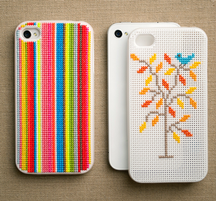 Cross-stitch-iphone-case