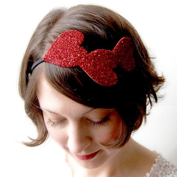 Glitter-heart-headband