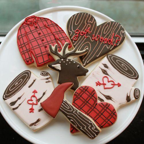 Woodland-valentine-cookies