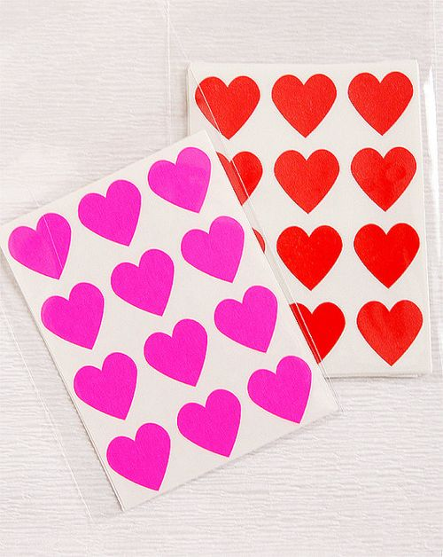 Heart-stickers