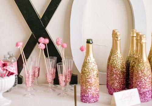Glitter-oscar-party-champagne
