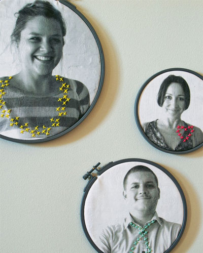 Embroidery hoop photos