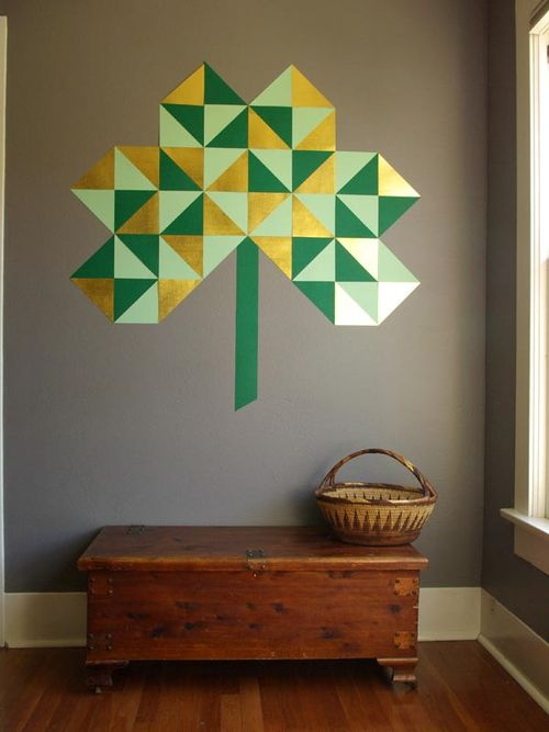 Giant geometric shamrock 2