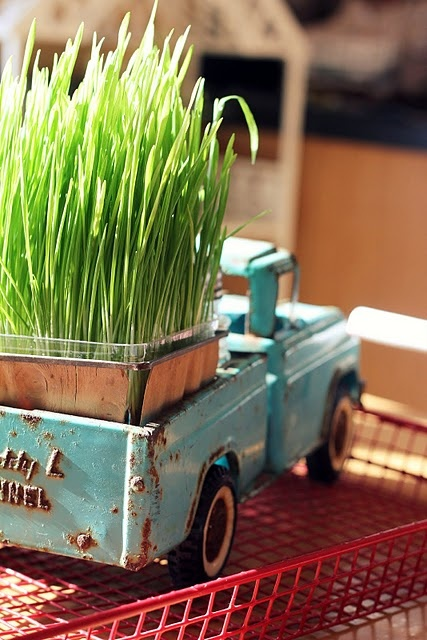 Toy-truck-planter
