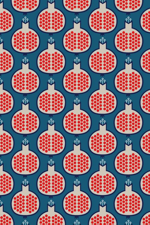 Pomagranate-wallpaper-fruit-decor