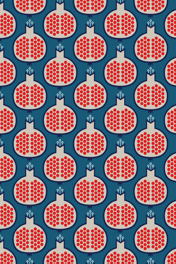 Pomagranate-wallpaper-fruit-decor
