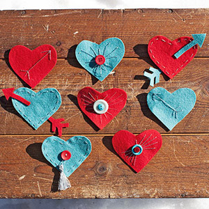 Heart-pin