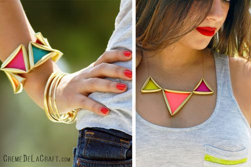 DIY-How-To-Tutorial-Idea-Straw-Trianlge-Pyramid-Geometric-Necklace-Bracelet-Creme-de-la-Craft