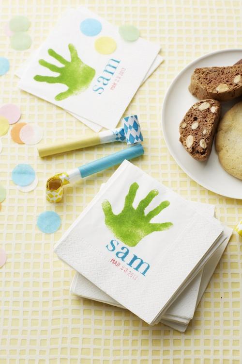 Handprint-napkins