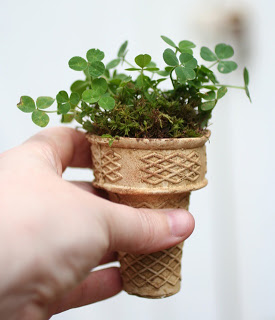 Ice-cream-cone-planter