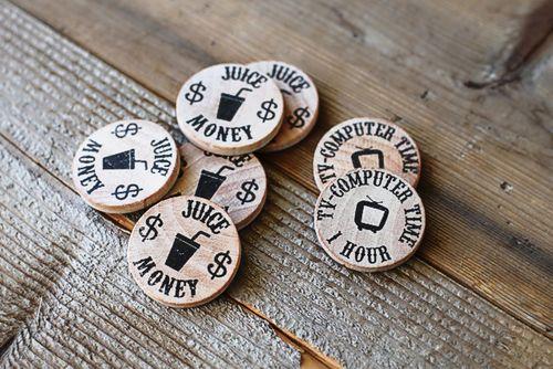 Wooden-play-money