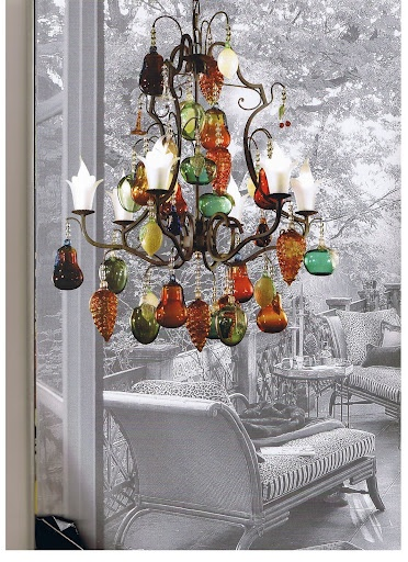 Fruit-chandelier
