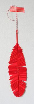 Pasta-feather-ornament
