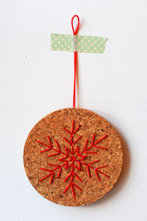 Snowflake-cork-stitched-ornament