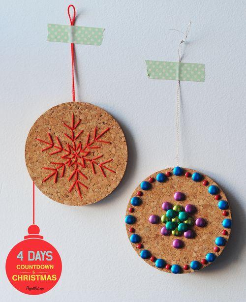 Cork-coaster-ornaments